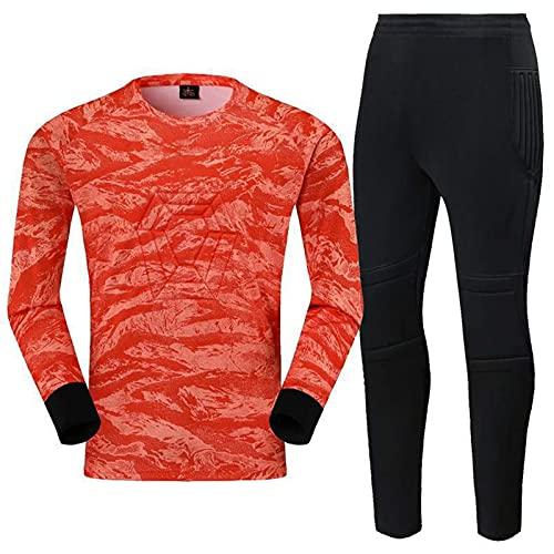 OTGRFS Uniforme de Portero de fútbol, Traje de Portero, pantalón de Manga Larga,Orange,L