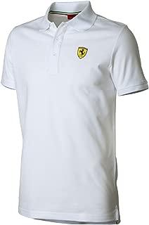 Ferrari Men's Classic Polo, White, Large
