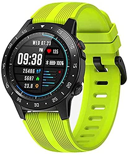 Smart Watch Running Sport Card Llamada GPS Posicionamiento Presión Altitud Brújula IP67 Impermeable Frecuencia Cardíaca Reloj Inteligente (Color: Verde)-Verde