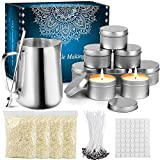 tobeape diy candle making kit supplies, arts & craft tools including pouring pot, cotton wicks,