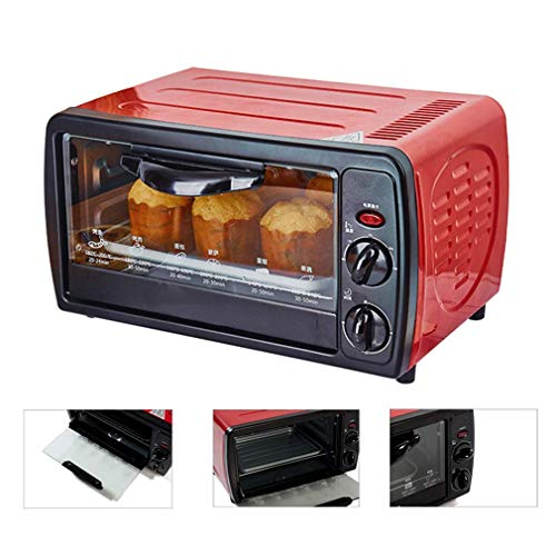 Mini Oven with Rotisserie, with Electric Grill and Hotplates, 60 Minutes of Timing, Upper and Lower Tube Heating, Heat Dissipation Design, 12L