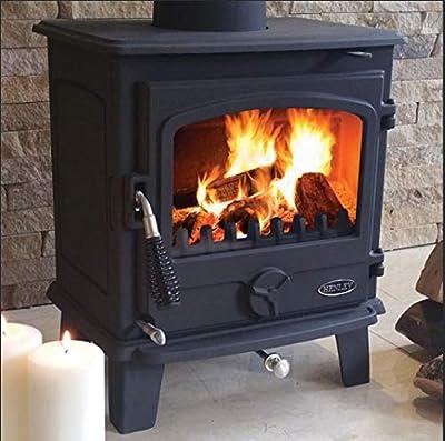 Henley Eden - Multi-Fuel/Woodburning Stove 5kw - Black