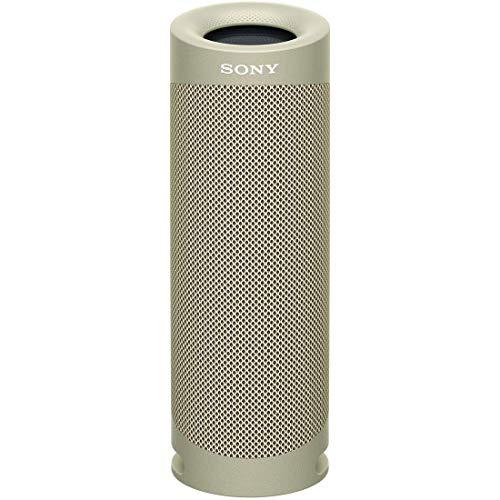 {ソニー ワイヤレスポータブルスピーカー SRS-XB23 : 防水/防塵/防錆/Bluetooth/重低音モデル/マイク付き/ 最大12時間連続再生 2020年モデル / ベージュ SRS-XB23 C}