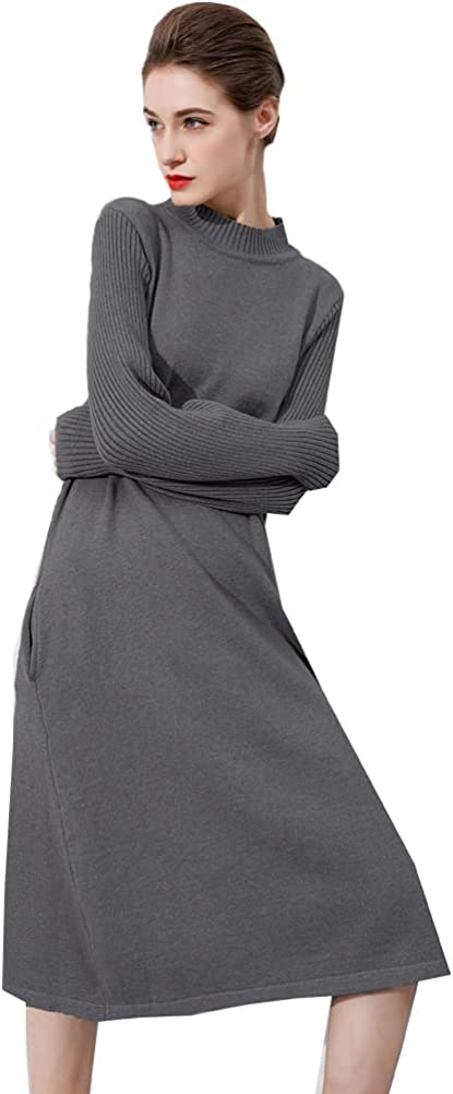 It is very popular Minibee Women's Long Max 61% OFF Sleeve Sweater Pullover Dresses Casual Turt