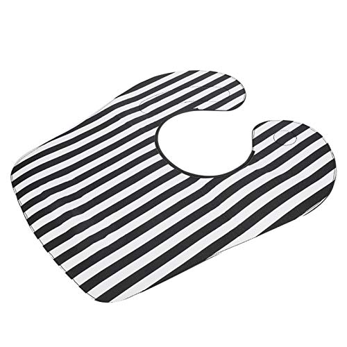 Vestidos de peluquería Capa de corte de pelo Capa de peluquero profesional para niños para uso de hombres para limpieza para uso diario para uso en salón(Black and white straight stripes)