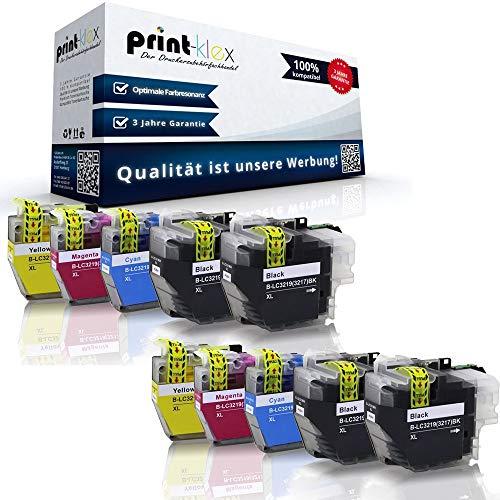 10x Kompatible Tintenpatronen für Brother MFC J 5330 DW MFC J 5330 DW XL MFC J 5335 DW MFC J 5730 DW LC-3219 LC3219 LC 3219 Black Cyan Magenta Yellow - Office Plus Serie