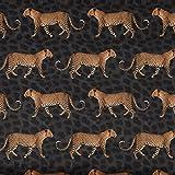 Samtstoff Dekostoff Polsterstoff Velvet Samt Leopard Parade