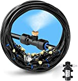 Misting Cooling System 59FT (18M) Misting Line for RV Caravan Boat Trampoline Garden Greenhouse with 12V 60W 5L/min High Pressure Self-Priming Micro Diaphragm Pump