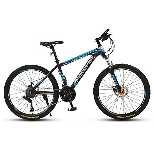 AYDQC Bicicleta de montaña de Ruedas de 26 Pulgadas, Bicicletas Exteriores de 21 velocidades, suspensión MTB, Frenos de Disco mecánico, cómodo y Profesional fengong (Color : White Blue)