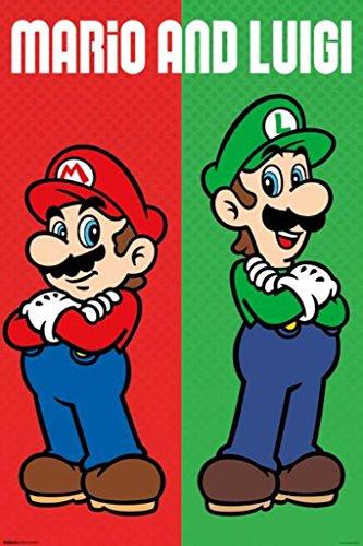Pyramid America Mario & Luigi Mario Brothers Video Gaming Poster 24x36 inch