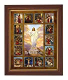 Michael Adams Stations of the Cross Framed Print, 12 1/2 Inch