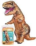 Original Cup - Disfraz Hinchable con Bomba de Aire USB, Traje Inflable Adultos para Fiesta, Conciertos, Halloween - T-Rex