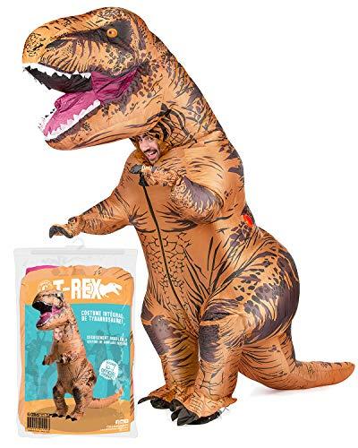 Costume Gonfiabile XXL T-Rex   Costume da Dinosauro   qualità Premium   Dimensione Adulta   Poliestere   Piacevole da Indossare Resistente   Sistema di gonfiaggio Incluso   OriginalCup®