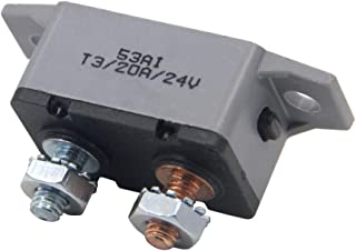 ZOZOSEP Interruptor de Circuito de Coches a Prueba de Agua Circuit Breaker Car Audio Inline 12V-24V CC con restablecimiento Manual Portafusible inversor