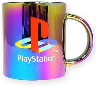 Taza de café de cerámica oficial de PlayStation con base galvanizada con spray degradado, juego de 1, 16 oz – tazas de regalo