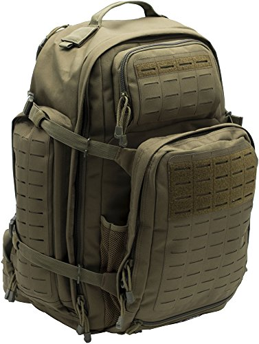 LA Police Gear Atlas 72H MOLLE Tactical Backpack for Hiking, Rucksack, Bug Out, or Hunting-Green