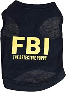 Dress Clothes Vest Costume for small Dog Puppy Cat Fancy Paws FBI-Black S