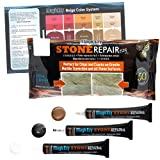 MagicEzy Stone Repairezy (Beige Repair Kit): Stone Fix - Repair Chipped and Cracked Granite Tiles and Countertops Fast - Marble, Granite and Travertine Repair Kit - Super Strong