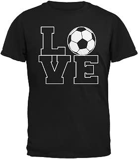 Soccer Love Black Adult T-Shirt