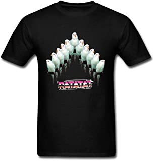 LSLEEVE Men's Ratatat Fan Made Album Cover White T-shirt