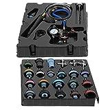Kit de detector de fugas, 28Pcs/Set Depósito de agua Detector de fugas Bomba de radiador Sistema de enfriamiento de presión Kit de herramientas de tapa de prueba