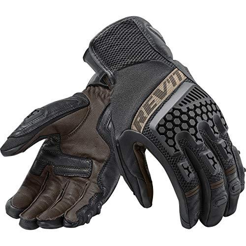 REV'IT! Motorradhandschuhe kurz Motorrad Handschuh Sand 3 Handschuh schwarz/sand S, Unisex, Tourer, Sommer, Leder/Textil, beige