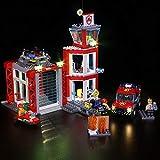 WXX Fuente De Alimentación USB para Bomberos Urbanos Y Kit De Iluminación LED Compatible con Lego, Niños (Sin Bloques De Construcción)