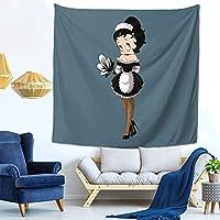 ベティ ブープ (2) ファッション多機能タペストリー家庭飾りタペストリー、軽くて、柔らかくて、丈夫で、洗いやすいです。寮の装飾、内室、ピクニック用の布、廊下の掛け物、テーブルクロス、ベッドカバーなど