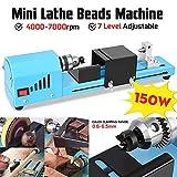 Mini-Drehmaschine, Tragbare Tischdrehmaschinen, Mini Drehmaschine Perlen Maschine Für Tischgravur...