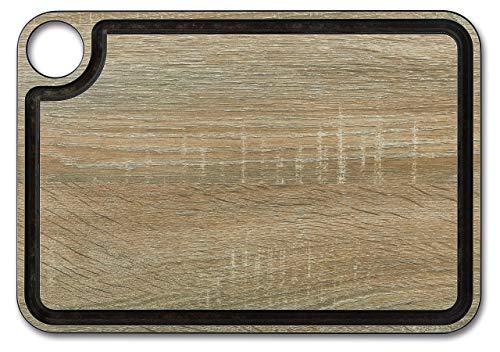 Arcos Tablas, Tabla de Corte con Canal, Fibra de Celulosa y Resina 33 x 23 cm y 6, 5 mm de espesor, Color Marrón