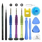 Cemobile Kit d'outils de réparation pour iPhone,kit de tournevis avec des kits d'outils de levier d'ouverture pour iPhone...