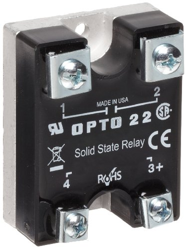 Opto 22 575D15-12 DC Control Solid State Relay, Transient Proof, 575 VAC, 15 Amp, 4000 V Optical Isolation, 1/2 Cycle Maximum Turn-On/Off Time, 25 - 65 Hz Operating Frequency
