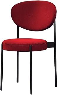 WHOJA Sillas de Comedor Suave bolsa de respaldo y cojín. Sillón de salón Algodón transpirable marco de metal Rodamiento 260 lbs. Apto para cocina, estudio, salón Sillas de esquina (Color : Red)