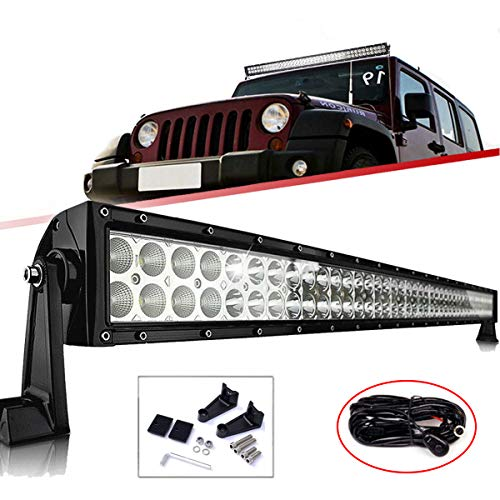 "WELLIT 240W 42"" Curved Barra De Led Luz Led Faro Trabajo Work Light Bar 12V 24V conducción 4x4 SUV Camión"