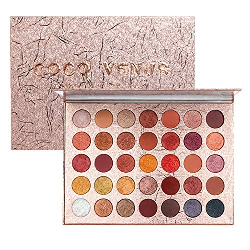 Roeam Paleta de sombras de ojos de 35 colores Kit de maquillaje cosmético Brillo mate Sombra de ojos Resaltadores Sombra de ojos de alto pigmento