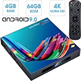 Android 9.0 TV Box 4GB RAM 64GB ROM, Pendoo X10 PRO Android TV