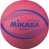 ミカサ(MIKASA) カラーソフトバレーボール 円周78cm(レッド) MSN78-R R 円周78cm