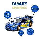Kinsmart Subaru Impreza WRX STI Rally Spec Model Car 1:36 Escala Diecast Metal Apertura de Puertas Pullback Go Action