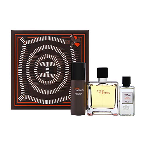 Hermes - Terre D´Hermes Pure Parfume Gift Set perfume 75 ml, after shave lotion Terre D´Hermes Pure Parfume 40 ml and after shave foam Terre D´Hermes Pure Parfume 50 ml - 75ML