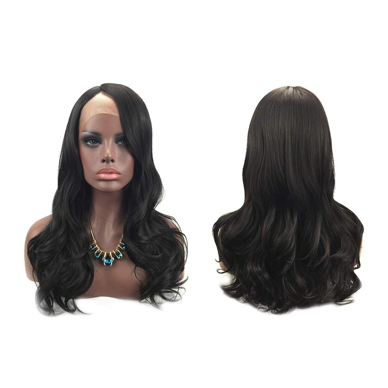現実正確な通行料金女性のファッションの長い巻き毛のかつら自然な絶妙な弾性ネットウィッグカバー(黒)