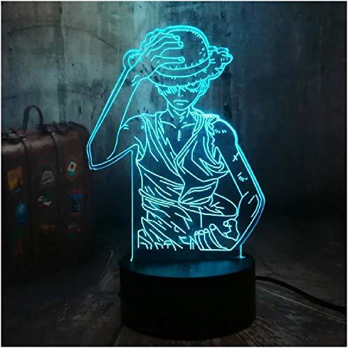 Ruffy 3D Led Illusion Nachtlicht 7 Farben Schreibtischlampe Schlafzimmer Dekor Kind Geburtstagslampe Kinderspielzeug