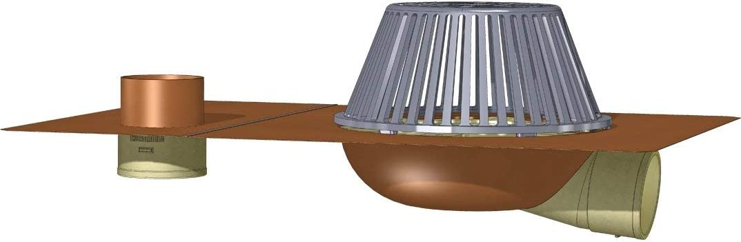 Copperlab excellence Side Outlet Roof Drain Fitting New product!! with Size: 4