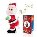 Twisted Wiggle Hip 14' Spanish Song Electric Santa Claus Singing and Dancing Christmas Toy Dancing Electric Twerking Santa Plush Xmas Gift for Kids