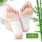 Detox Fußpflaster,Detox Foot Pads,Foot Patches zum Entfernen von Toxinen Natural Organic Bamboo,Detox Pflaster Fuß Gewichtsverlust, Stressabbau