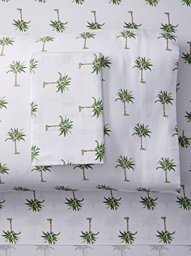 Panama Jack Palm Tree 300 Thread Count Cotton Sheet Set; Full