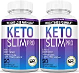 Vegepower Keto Slim Pro 180 Capsules 2 Pack-Apple Cider Vinegar,Exogenous BHB Salt Supplement for Ketogenic Diet-Utilize Fat for Energy/Focus,Weight Management, Manage Cravings-Women Men