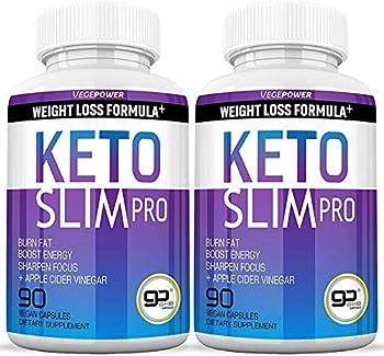 VEGEPOWER Keto Fast Diet Pills- Ketone Slim Pro 180 Capsules-Apple Cider Vinegar,Exogenous BHB Salt Supplement for Ketogenic Diet-Utilize Fat for Energy/Focus,Weight Management Manage Cravings