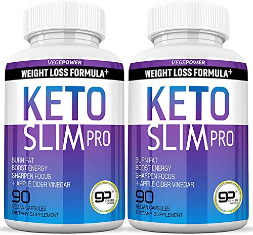 VEGEPOWER Keto Fast Diet Pills- Ketone Slim Pro 180 Capsules-Apple Cider Vinegar,Exogenous BHB Salt Supplement for Ketogenic Diet-Utilize Fat for Energy/Focus,Weight Management, Manage Cravings