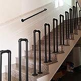 Pasamanos De Escalera Industrial Barandillas,barandillas De Escalera De Hierro En Forma De U Negro,Los Piquetes Barandillas,Moderno Interior De La Cerca Exterior Loft Bar Corredor De Seguridad