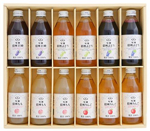 アルプス 信州ストレート 天然果汁 ジュース セット